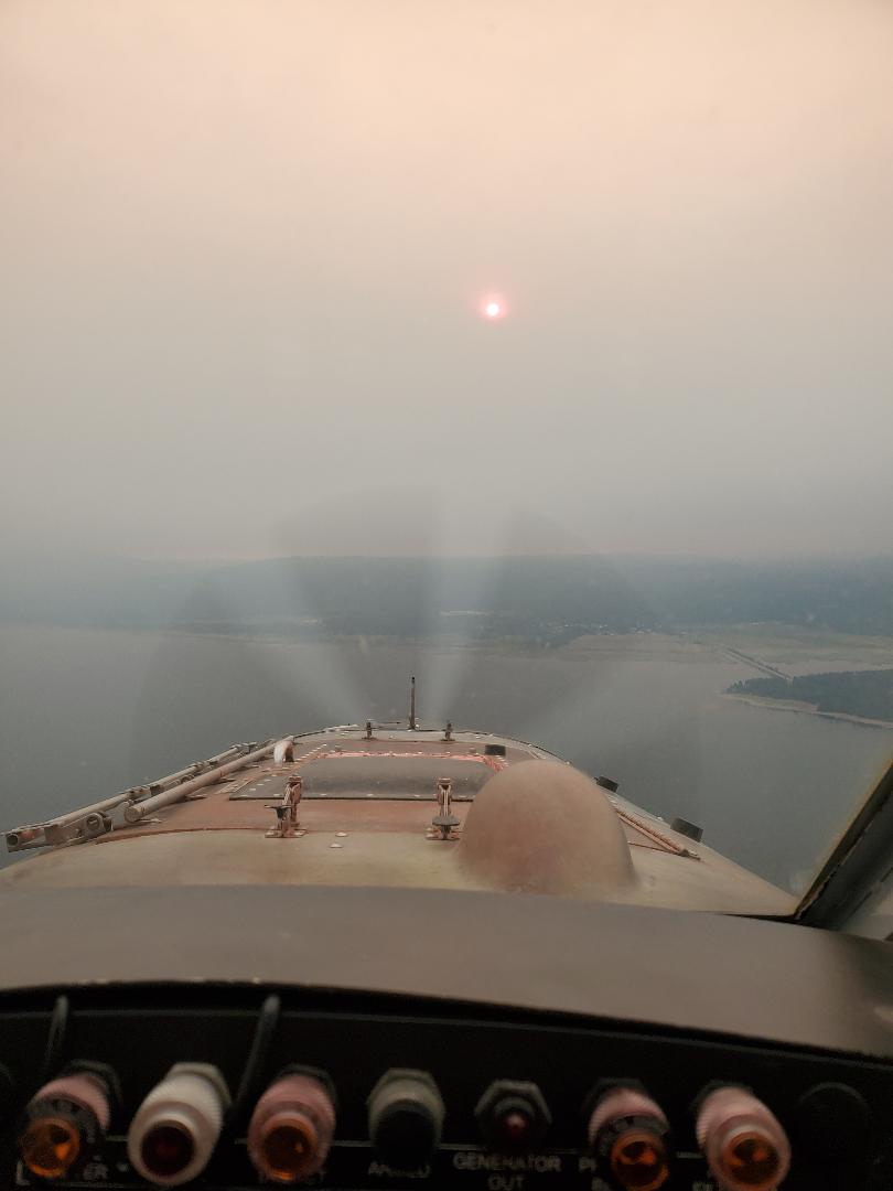 sunset through the smoke 8.20